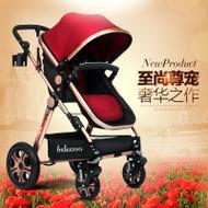 宝宝车 豪华高景观婴儿推车 可躺可坐 宝宝推车 婴儿车 升级童车