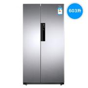 惠而浦冰箱BCD-603WDAW亮光银色