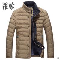 罗蒙男士羽绒服立领白鸭绒羽绒衣青年休闲外套2015冬装厚5Y59036
