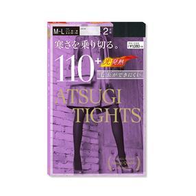 日本 厚木(ATSUGI) 塑形连裤袜 发热袜110D  2双装