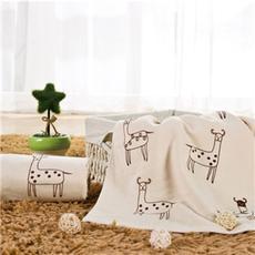 花果果 毛巾 小鹿毛巾 纯棉卡通可爱毛巾全棉吸水洗脸毛巾