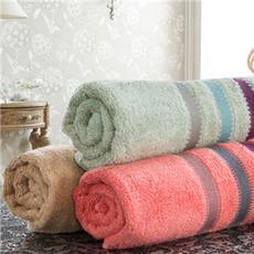 花果果 毛巾 渐变素缎 竹纤维舒适蓬松柔软洁面巾 吸水洗脸巾