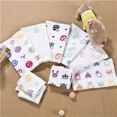 花果果 童真岁月童巾 纯棉卡通可爱儿童毛巾吸水洗脸小面巾