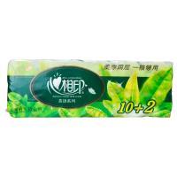 【超级生活馆】心相印茶语系列135g12粒装四层卷筒卫生纸(编码:572359)