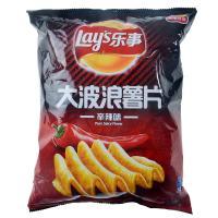 【天顺园店】乐事大波浪薯片辛辣味145g(编码:570514)