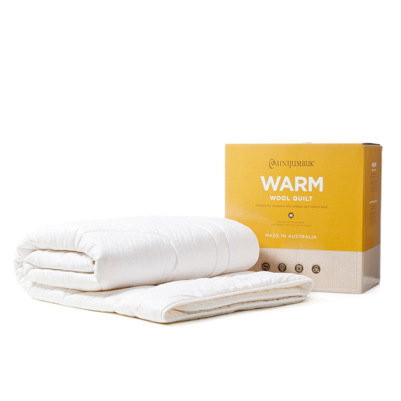 【澳洲直邮|包税包邮】minijumbuk羊毛被保暖四层羊毛被透气性好防螨虫