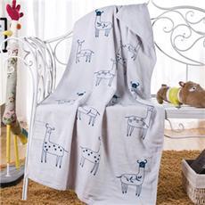 花果果 小鹿 全棉浴巾 卡通多彩 柔软吸水 洗澡巾