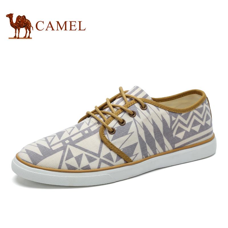 camel骆驼男鞋 2017春季新品帆布鞋 男鞋子休闲平板鞋透气套脚男鞋