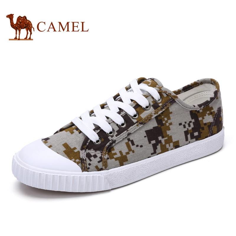 camel骆驼男鞋 2017春季新品 舒适运动休闲低帮鞋学院风耐磨帆布鞋