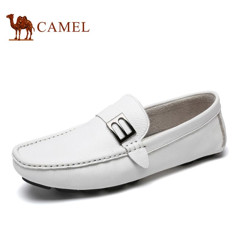 camel骆驼男鞋 2017春季新品 豆豆鞋驾车鞋子套脚鞋潮流休闲男鞋子