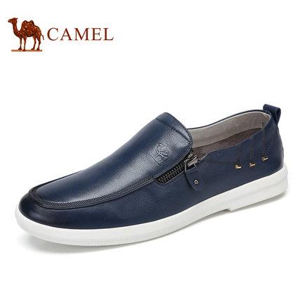 camel骆驼男鞋 2017春季新品时尚日常休闲套脚鞋低帮休闲皮鞋