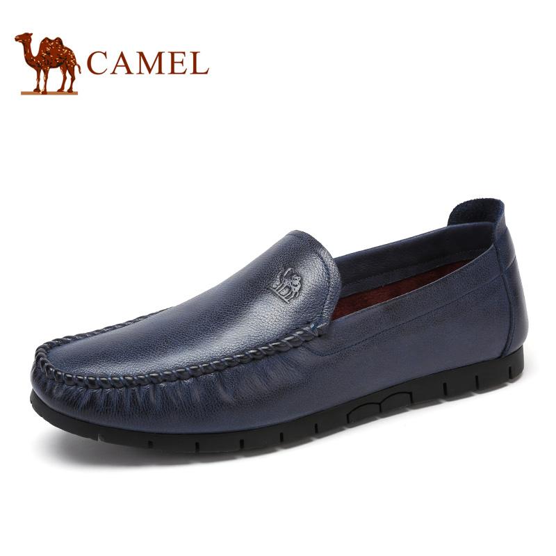camel骆驼男鞋 2017春季新品时尚商务休闲轻便舒适套脚潮男鞋