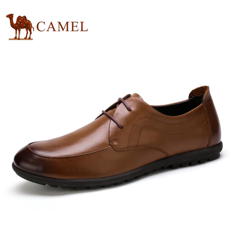 camel骆驼男鞋 2016春季新款 商务正装头层小牛皮商务皮鞋