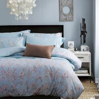 克莉维娅 100%全棉斜纹活性印花四件套 美式田园风床上用品床单被套1.5米1.8米套件