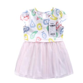 巴拉巴拉2016夏新童装 女幼童婴儿拼接款印花连衣裙 21112160105【六一欢乐颂】