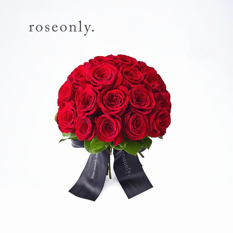 roseonly刘诗诗婚礼手捧玫瑰花鲜花玫瑰经典捧花27朵图片