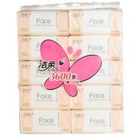 【天顺园店】洁柔JR078-02FACE天然120抽(10包装)1*10(编码:547531)