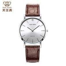 天王表 男士石英手表休闲复古情侣表手表男女时尚百搭手表GS3529银