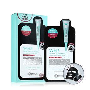 韩国  Clinie/可莱丝 W.H.P竹炭黑炭美白补水针剂面膜 10片/盒