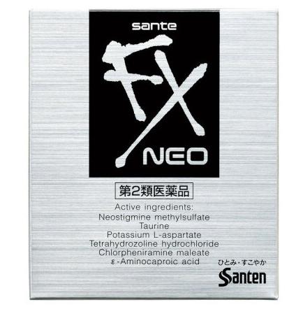 日本 参天SANTEN-FX COOL FX银色眼药水(升级清凉感) 12ml