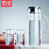 物生物凉水壶玻璃壶透明水具饮料果汁壶大容量凉杯玻璃水壶冷水壶