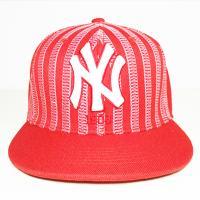 MLB新款平沿帽棒球帽红色条纹15NY3UCA03255