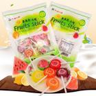 韩国进口 华尔水果切片棒棒糖300克