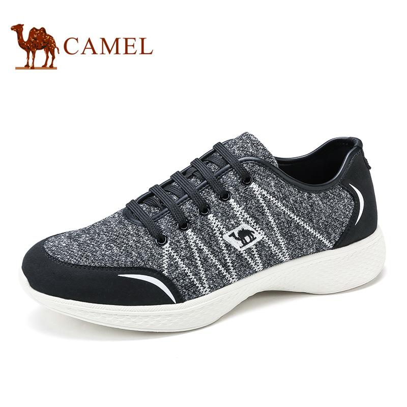 camel骆驼男鞋 2016新品 针织布鞋面透气轻盈日常休闲鞋男