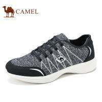 camel骆驼男鞋  针织布鞋面透气轻盈日常休闲鞋男