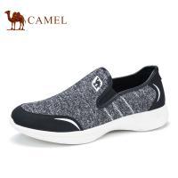 camel骆驼男鞋 新品 男士透气健步鞋轻便套脚休闲鞋低帮鞋