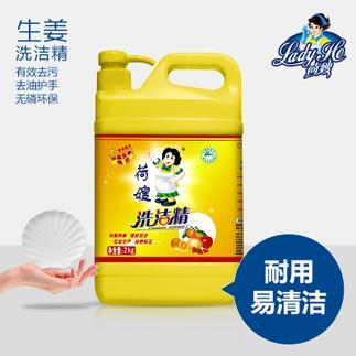 荷嫂 生姜芦荟瓶装洗洁精2kg 去油护手除菌 无磷环保