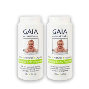 【澳洲直邮|包税包邮】 GAIA天然有机认证初生婴儿爽身粉不含滑石粉痱子粉100g