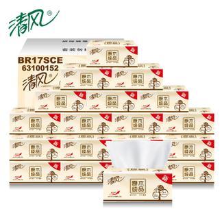 清风原木抽纸面巾纸餐巾纸180抽纸抽18包包邮婴儿抽纸卫生纸纸巾   BR17MCE*3