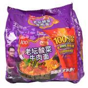 【华师店】统一100老坛酸菜组合包121g*5(条码:6925303773908)