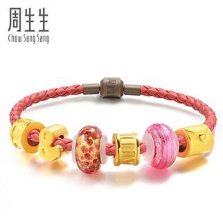周生生黄金足金Charme串珠系列Murano Glass 86035B定价