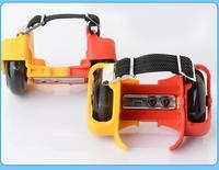 滑板贵族牌GH688风火轮滑板 闪光静音轮滑鞋 儿童暴走滑板代步工具 小孩滑板鞋 红黄色 橙绿色
