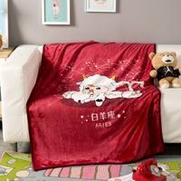 毛毯珊瑚绒毯加厚夏季空调盖毯 法莱绒床单毛巾被双人毯子
