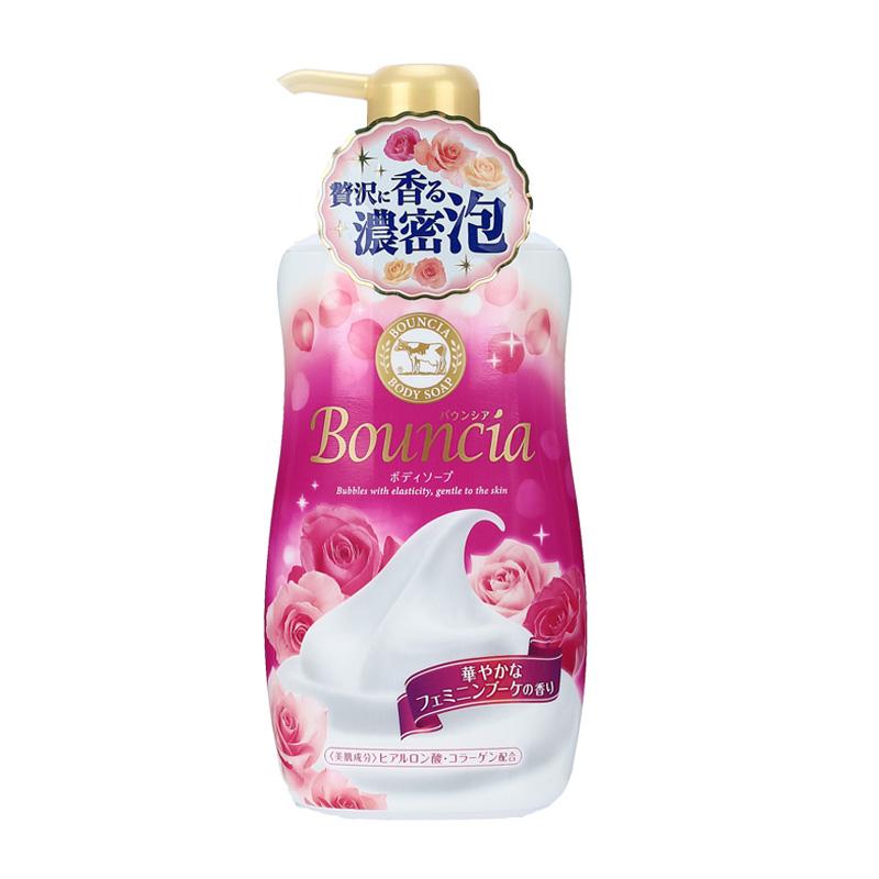 日本  牛乳石碱(cow)高保湿沐浴露  红色玫瑰美肌 清洁 450ml/瓶