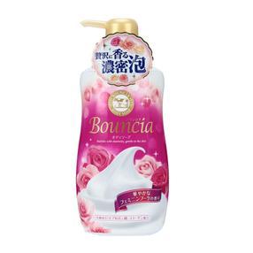 日本  牛乳石碱(cow)高保湿沐浴露  红色玫瑰美肌  450ml/瓶