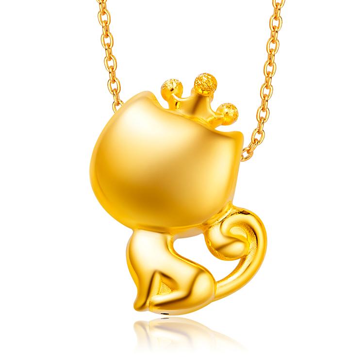 CoCo Cat塑形黄金足金吊坠