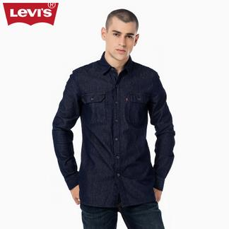 Levi's李维斯秋冬季男士修身长袖牛仔衬衫28867-0000