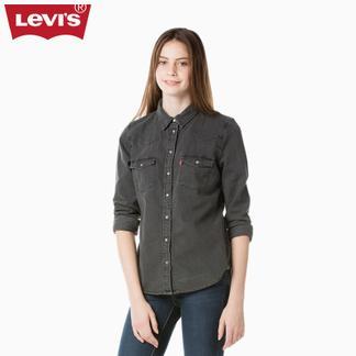 Levi's李维斯新春系列女士纯棉水洗长袖牛仔衬衫24996-0010