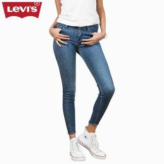 Levi's李维斯700系列女士710弹力超紧身水洗牛仔裤17780-0011