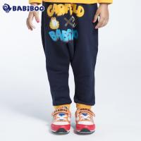 BABIBOO加菲猫童装棉裤秋冬新款男童女童宝宝休闲大浪长裤GDPC792281