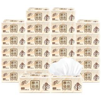 清风抽纸批发整箱24包原木纯品家用纸巾餐巾卫生纸抽取式家庭装抽