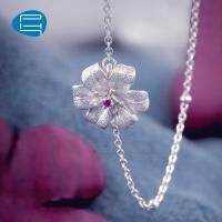 PH7银饰花朵银手链女925银饰品气质甜美小清新女款手饰品七夕礼物