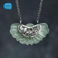 PH7 原创设计手工银饰品925银和田玉吊坠项链锁骨链送妈妈女友