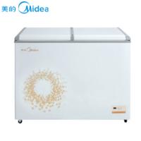 美的(Midea) BCD-311VEM 蝶型门双温冷柜 卧式双门冷冻冷藏冰鲜冰柜 旋律金