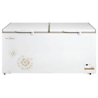 Midea/美的 BD/BC-568DKEM冷柜卧式商用大冰柜大容量顶开冷藏冷冻