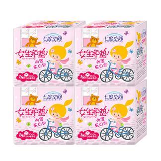 七度空间护垫 少女系列姨妈巾护垫4包共72片迷你卫生巾